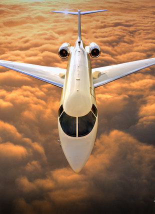business jet flying over clouds aircraft appraisal